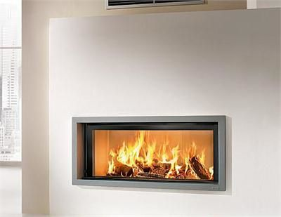 L 39 l ment central le feu home sweet home for Modern wood burning fireplace insert