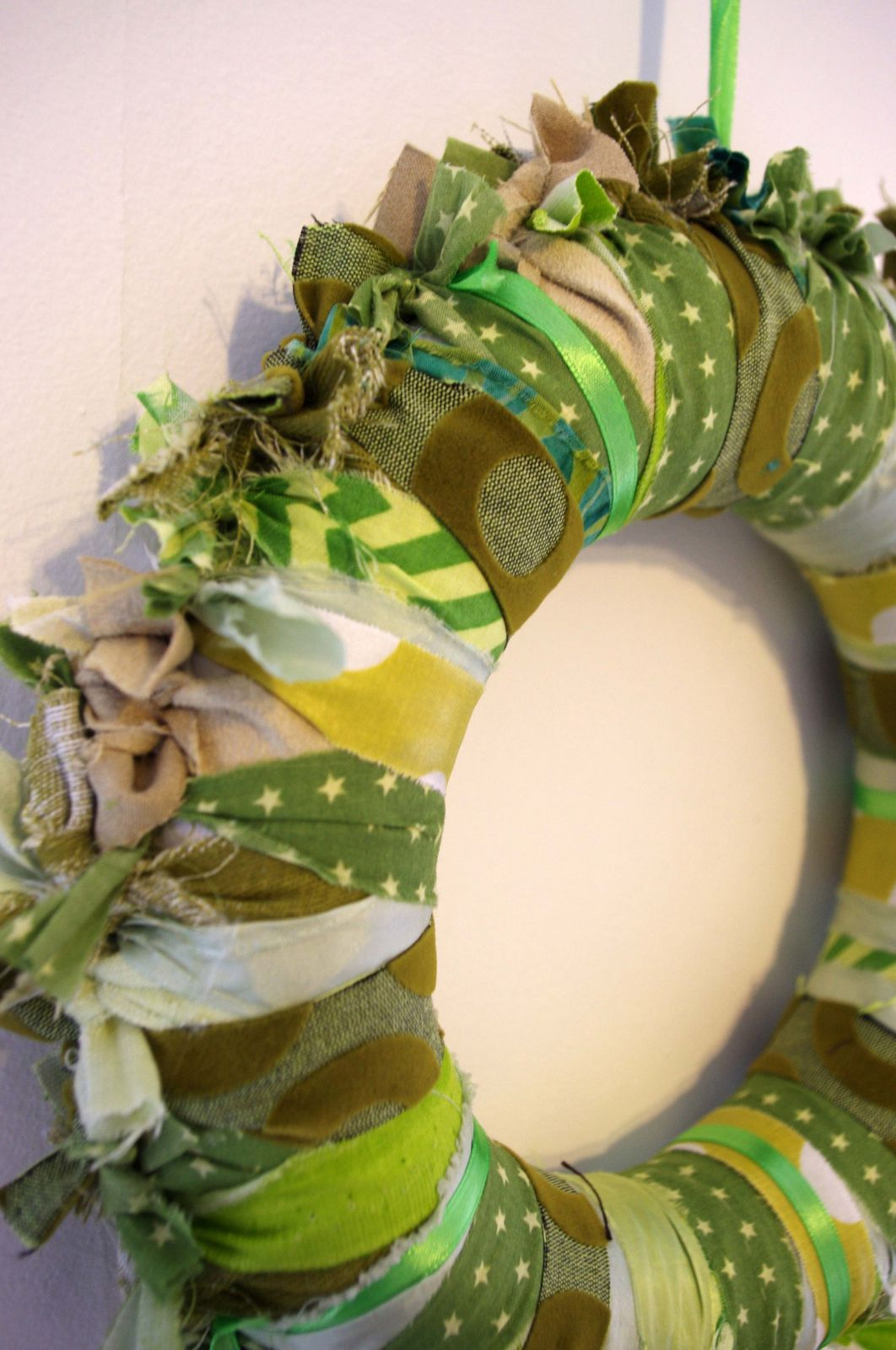 Couronnes de tissus vertes