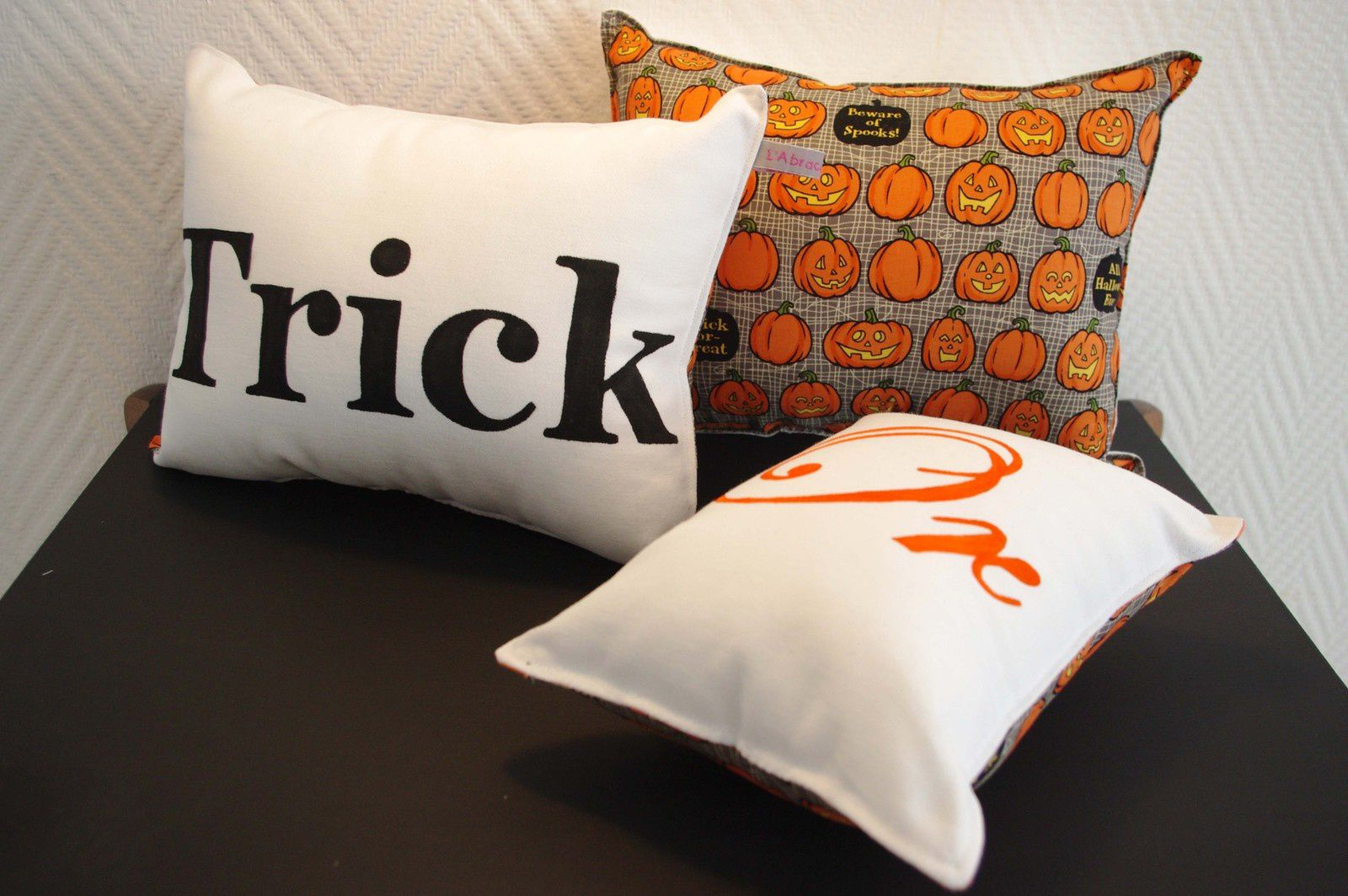 """Coussins """"trick or treat"""""""