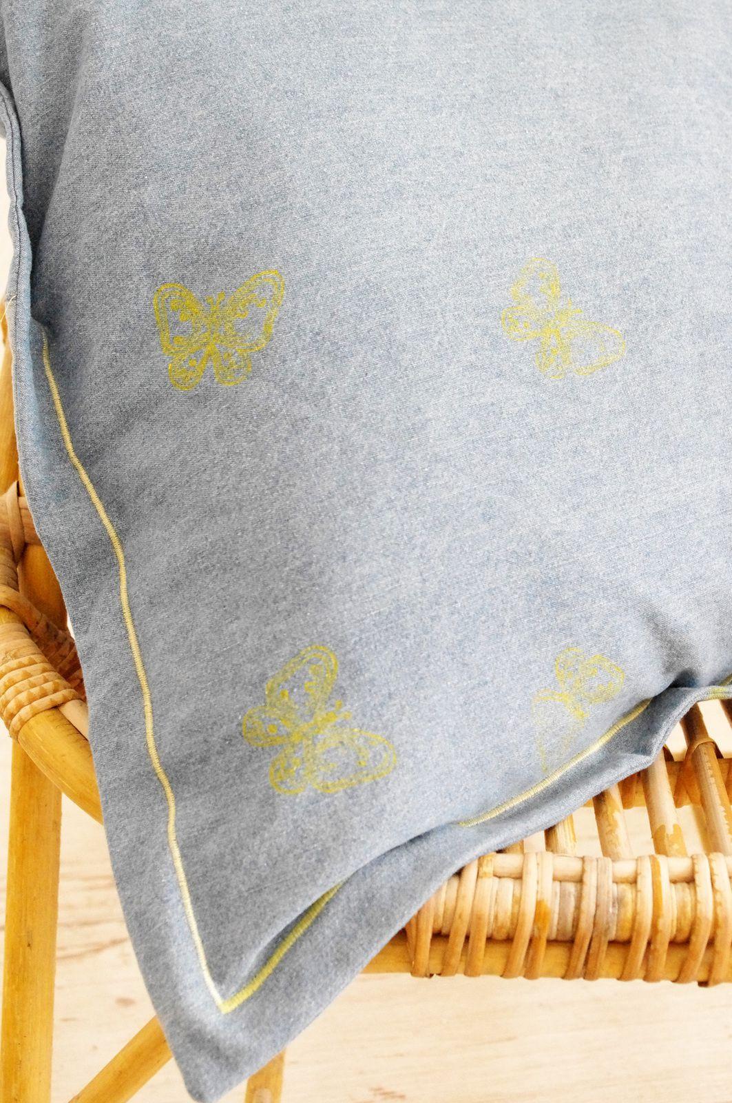 Coussin de sol en jean