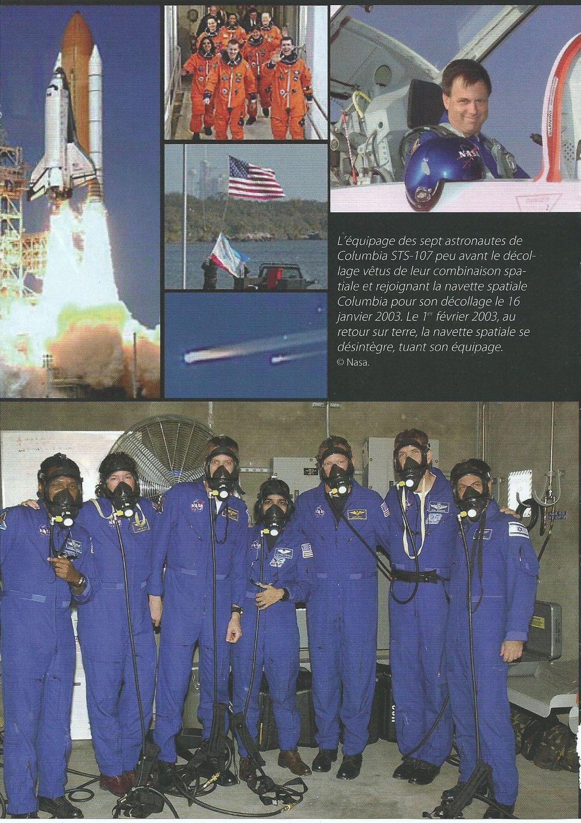page du portfolio du livre, paru en 2011, consacrée à l'accident de la mission Columbia STS-107 (Editions A2CMédias)
