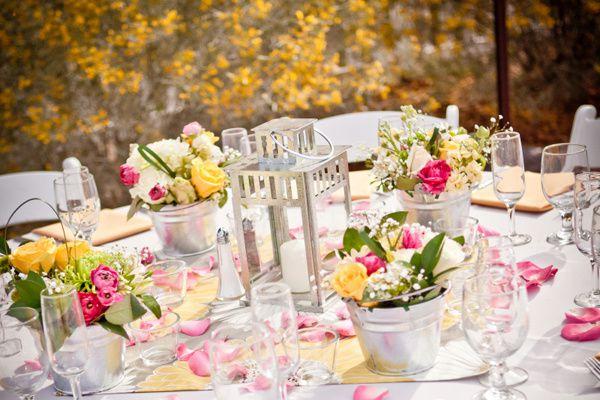 decoration mariage jaune et fushia
