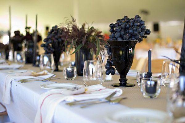 decoration mariage vin decoration de table raisin
