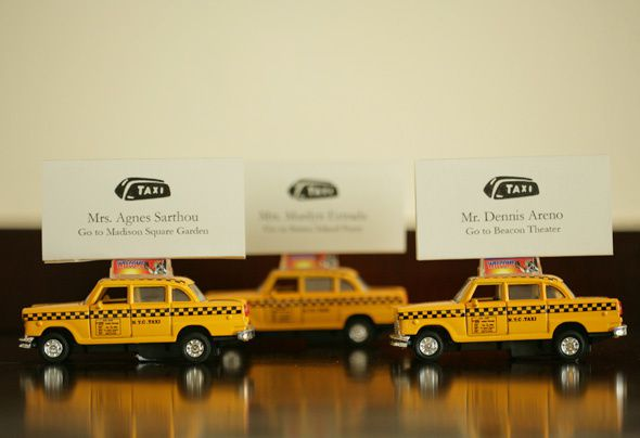 marque place mariage new york taxi jaune