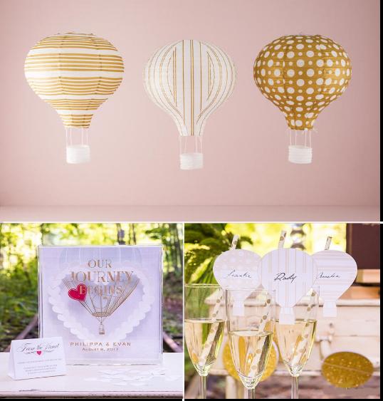 decoration mariage montgolfiere lampion boite a messages marque place