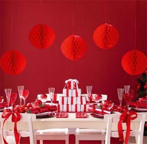 les plus belles d corations de table de noel couleur mariage. Black Bedroom Furniture Sets. Home Design Ideas