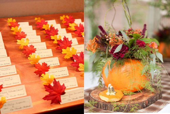 decoration table automne