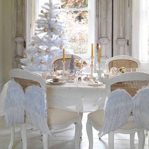 decoration table noel les anges