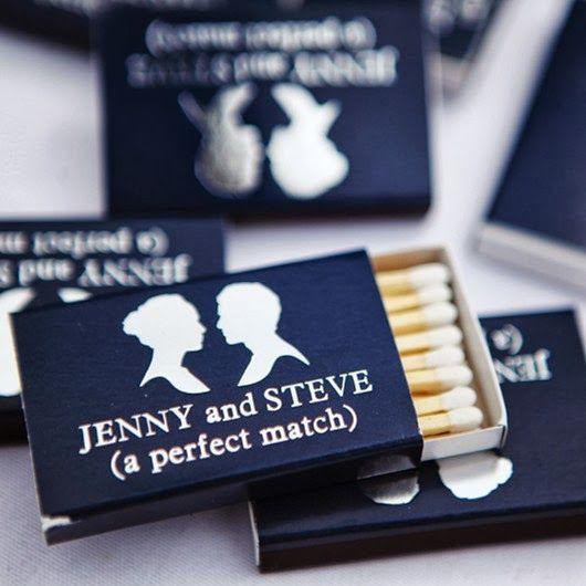 cadeau invités mariage boite allumettes