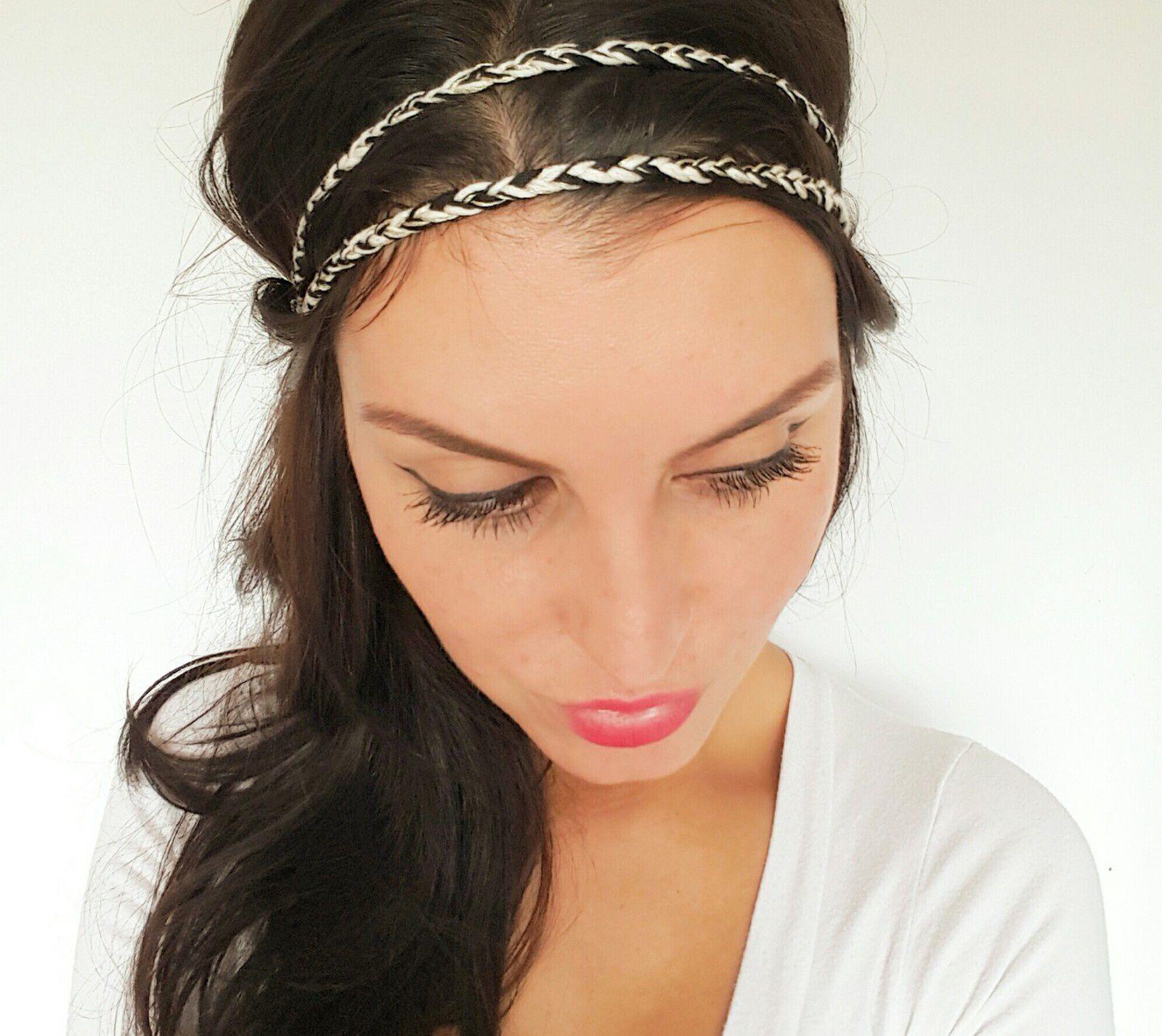 gamme exceptionnelle de styles et de couleurs nuances de comment trouver Headband tressé noir et doré, accessoire cheveux bohème chic ...