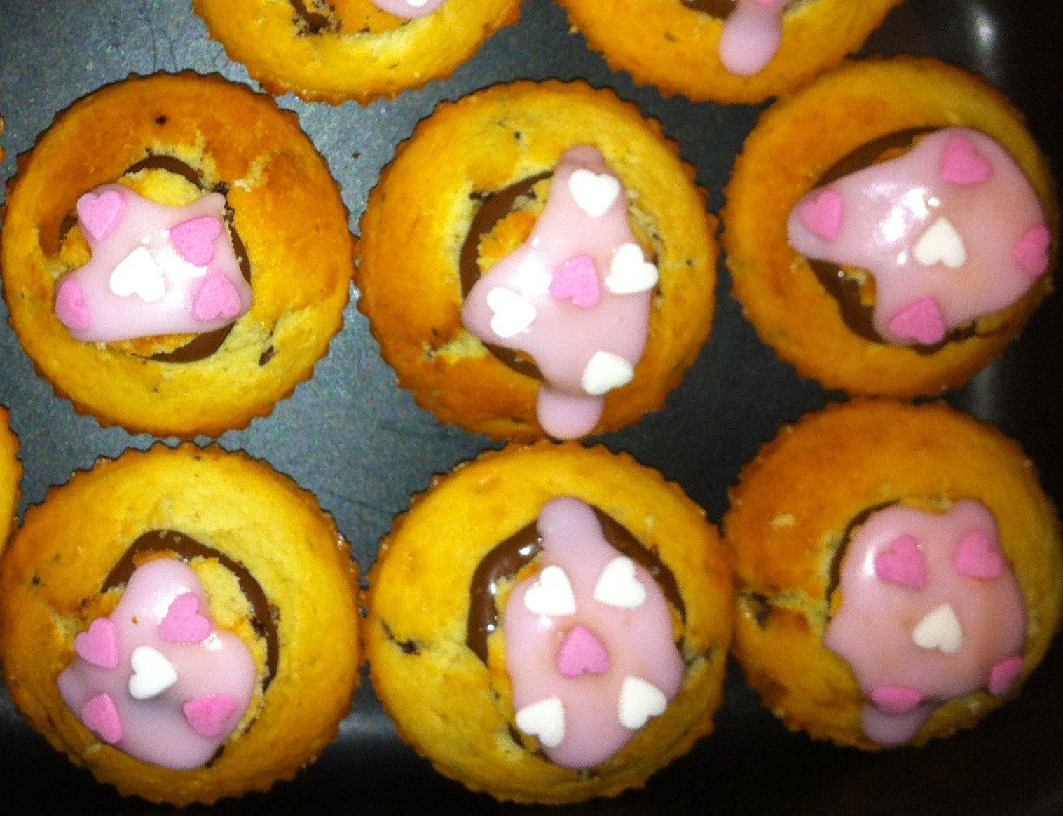 Cupcakes au nutella sans gluten - pour 12 unités