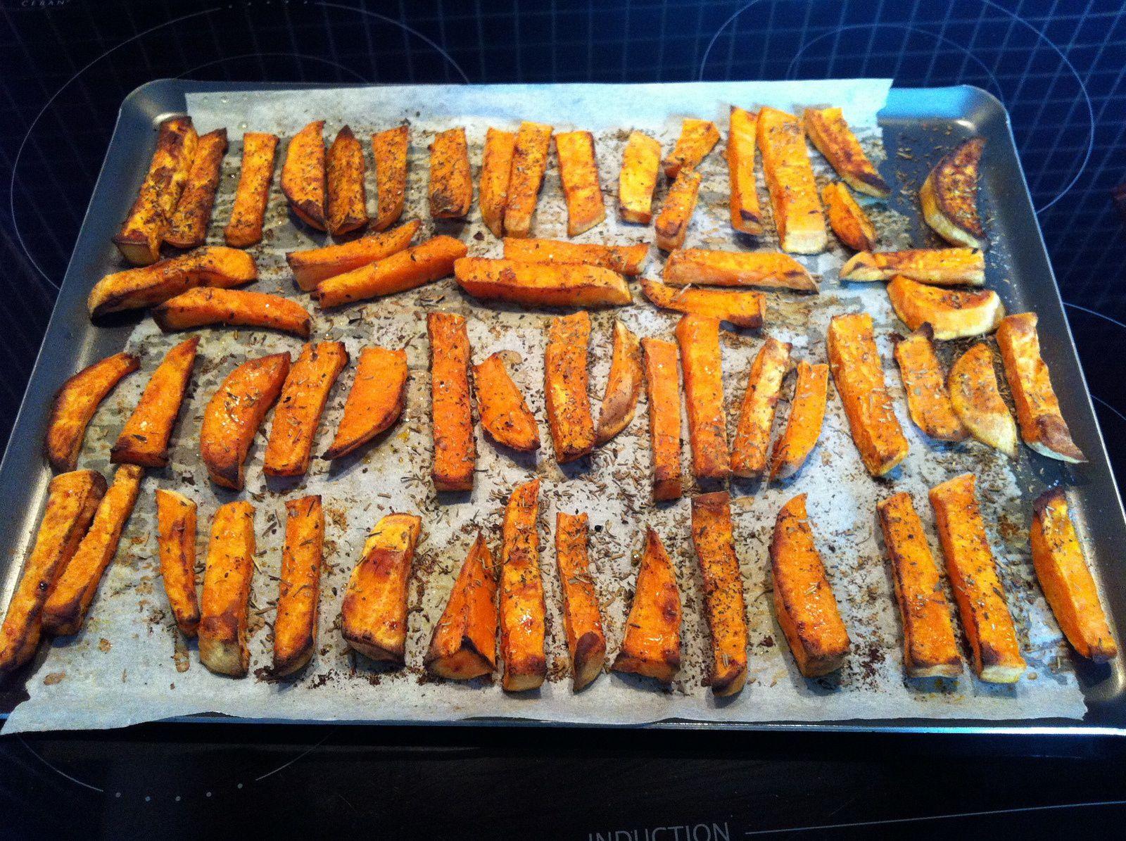 frites de patate douce au four - sans gluten - cuisiner sans gluten