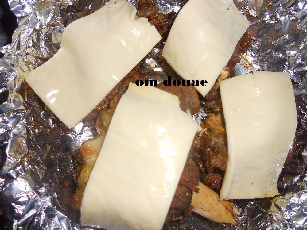 فطبق نحط خليط البصل مع مطيشة و طريفات اللحم