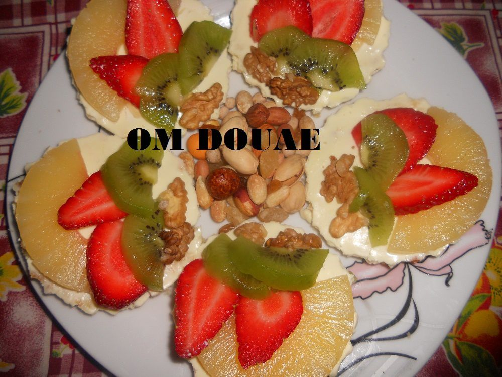 mini tarte aux fruits