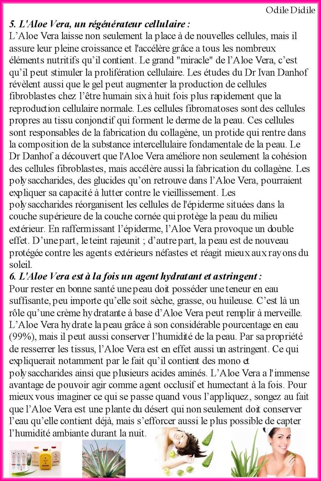 Dix bonnes raisons de boire de la pulpe d'Aloe Vera . Six bonnes raisons d'utiliser l'Aloe Vera pour l'apparence de votre peau.