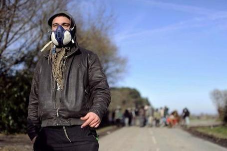 Un militant opposé au projet de Notre-Dame-des-Landes, près de Nantes, le 12 décembre 2012 - AFP/Archives Jean-Sebastien Evrard