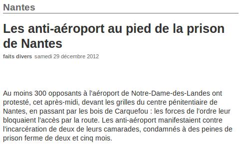Article Ouest france (du 29.12.12)