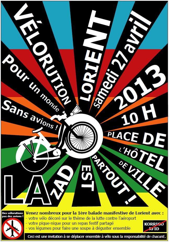BZH : Vélorution à Lorient (56), «Non à l'aéroport de Notre-Dame-des-Landes»