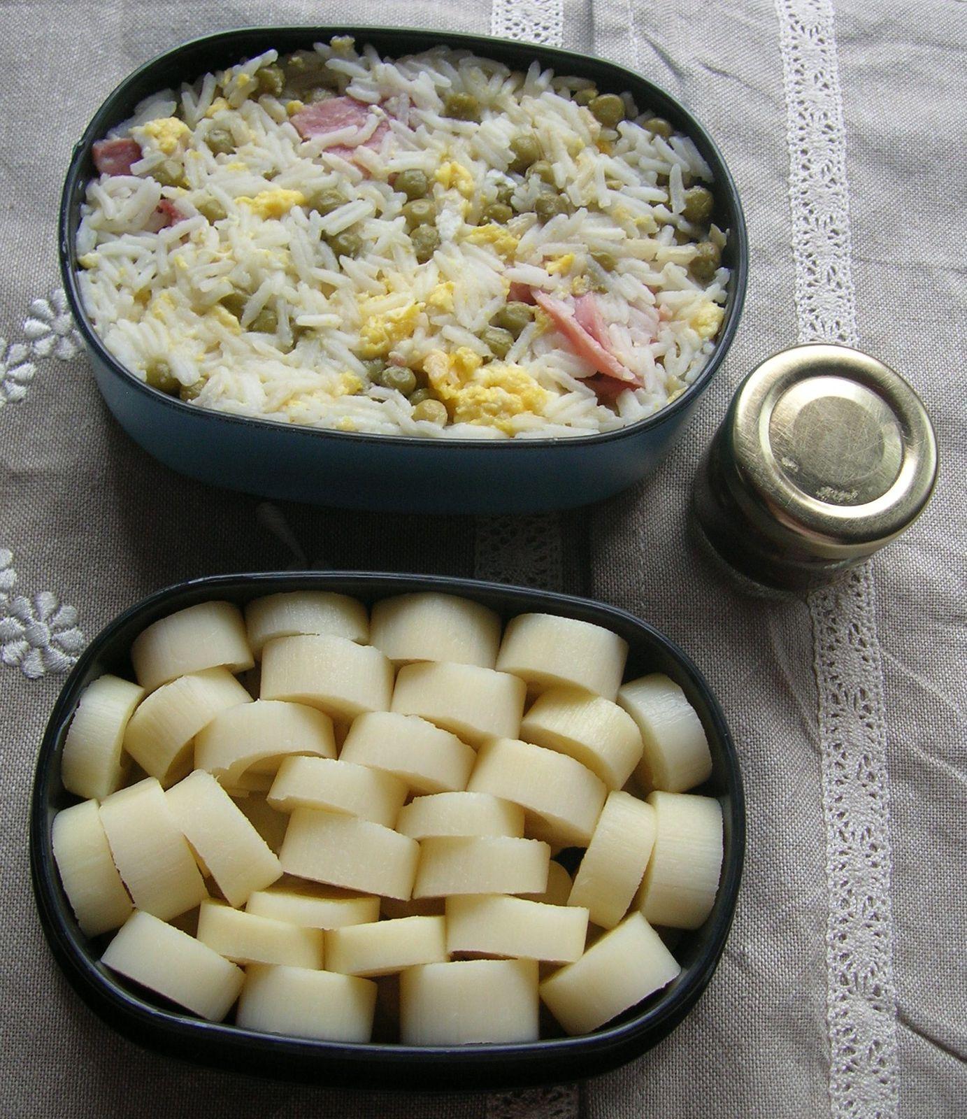 Bento n°21 et ma recette du simple riz cantonnais au jambon