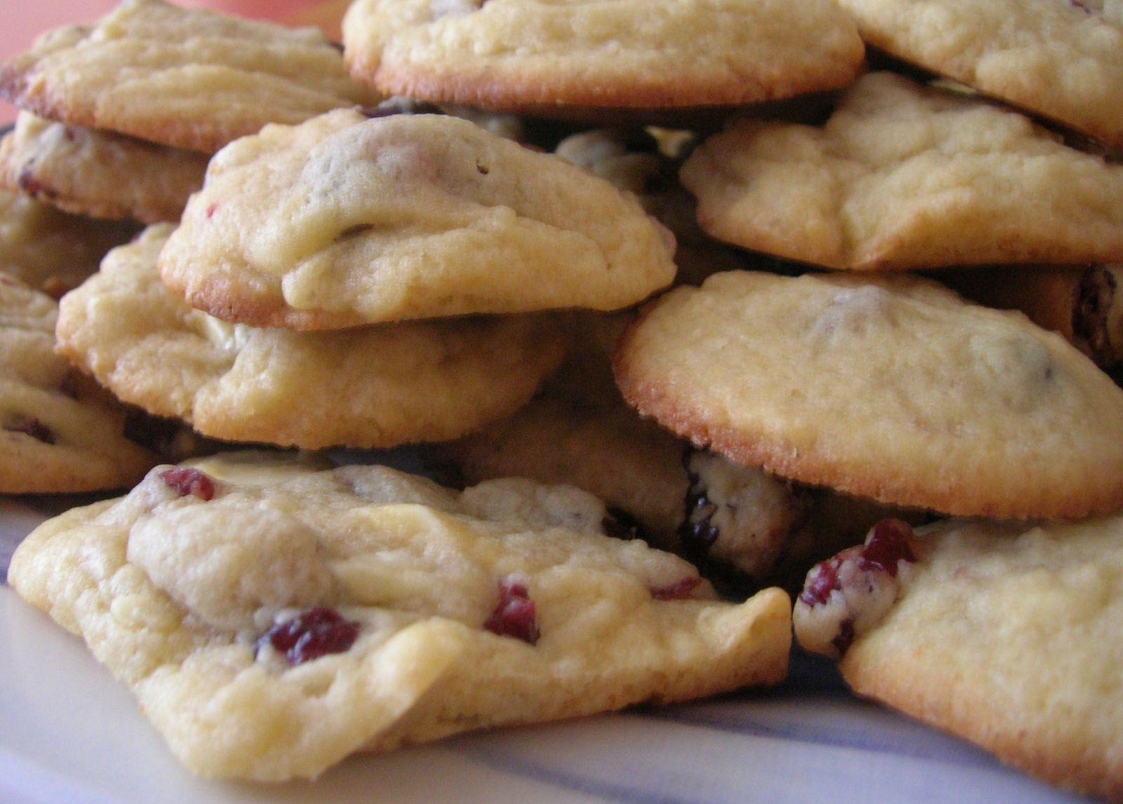 Cookies chocolat blanc et cranberries séchées