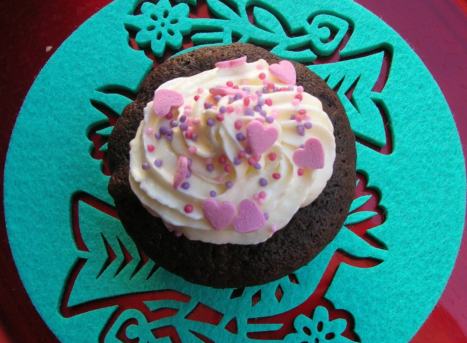 Cupcakes chocolat, topping au fromage frais