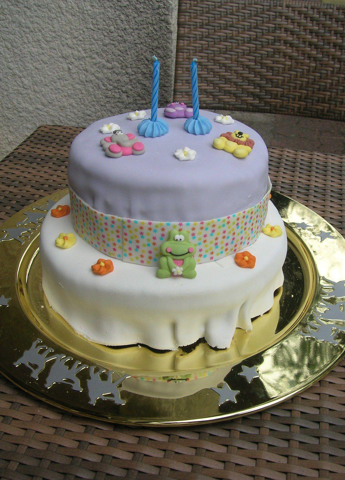 Gâteau d'anniversaire nature/chocolat/coco