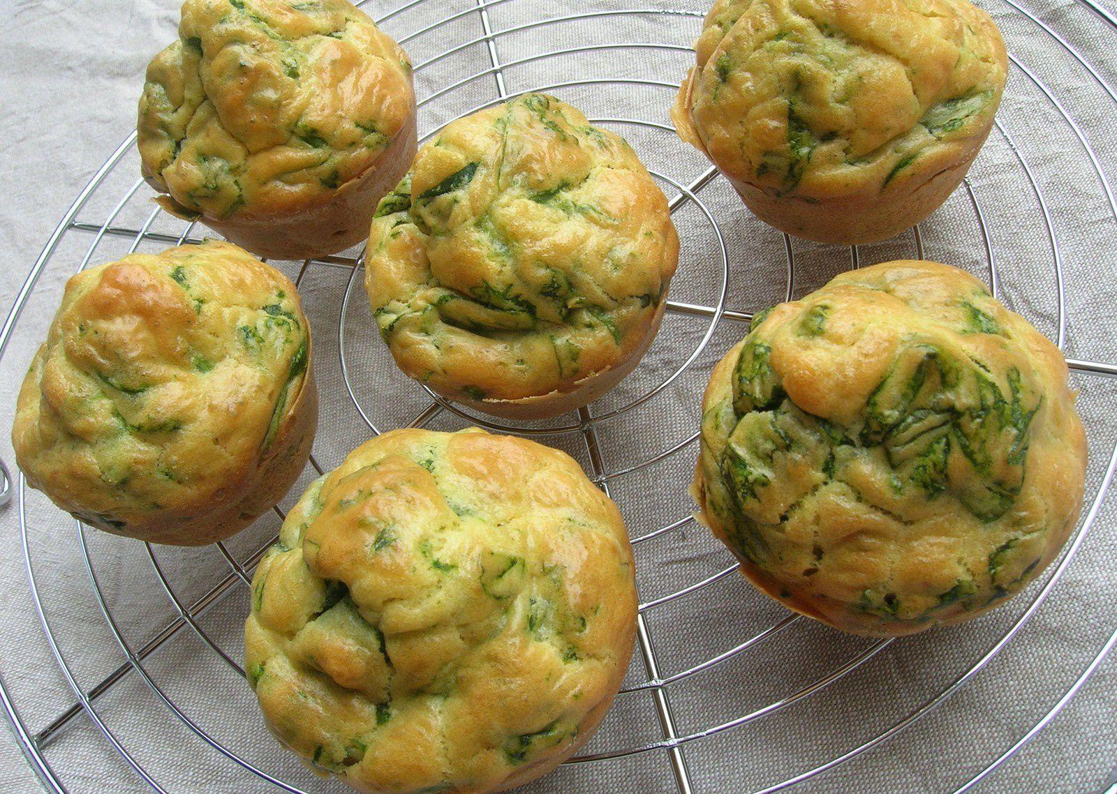 Mini cakes aux épinards