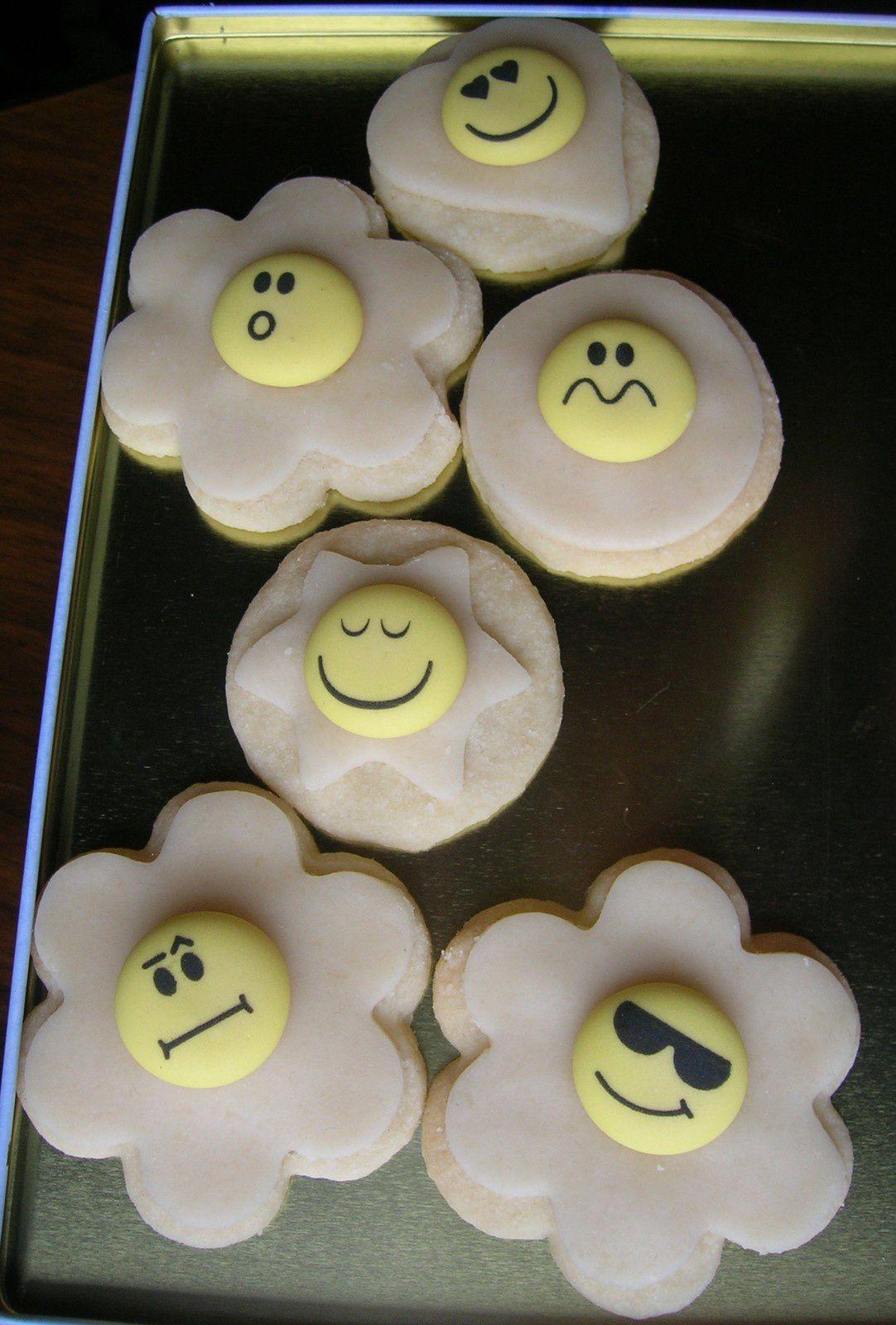 Biscuits décoration pâte d'amande