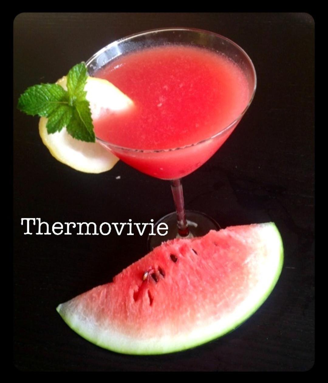 Cocktail rafraîchissant pastèque menthe vodka au thermomix