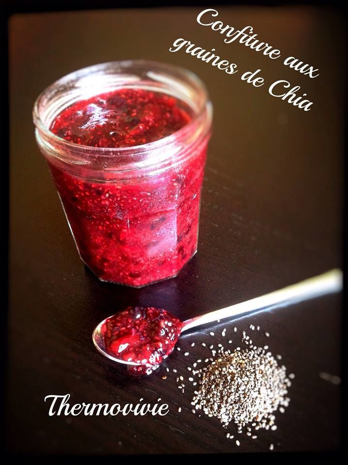 confiture sans cuisson aux graines de chia une recette avec ou sans thermomix thermovivie. Black Bedroom Furniture Sets. Home Design Ideas