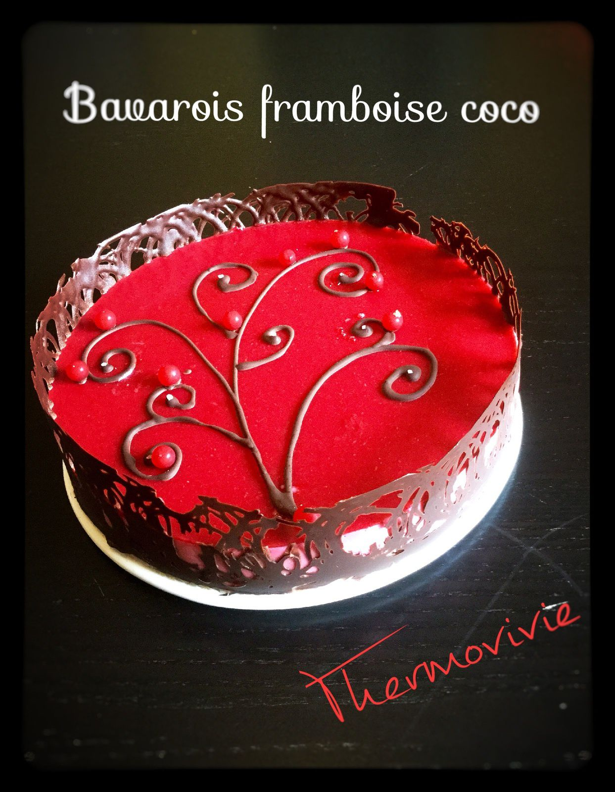 bavarois framboise coco recette au thermomix thermovivie. Black Bedroom Furniture Sets. Home Design Ideas