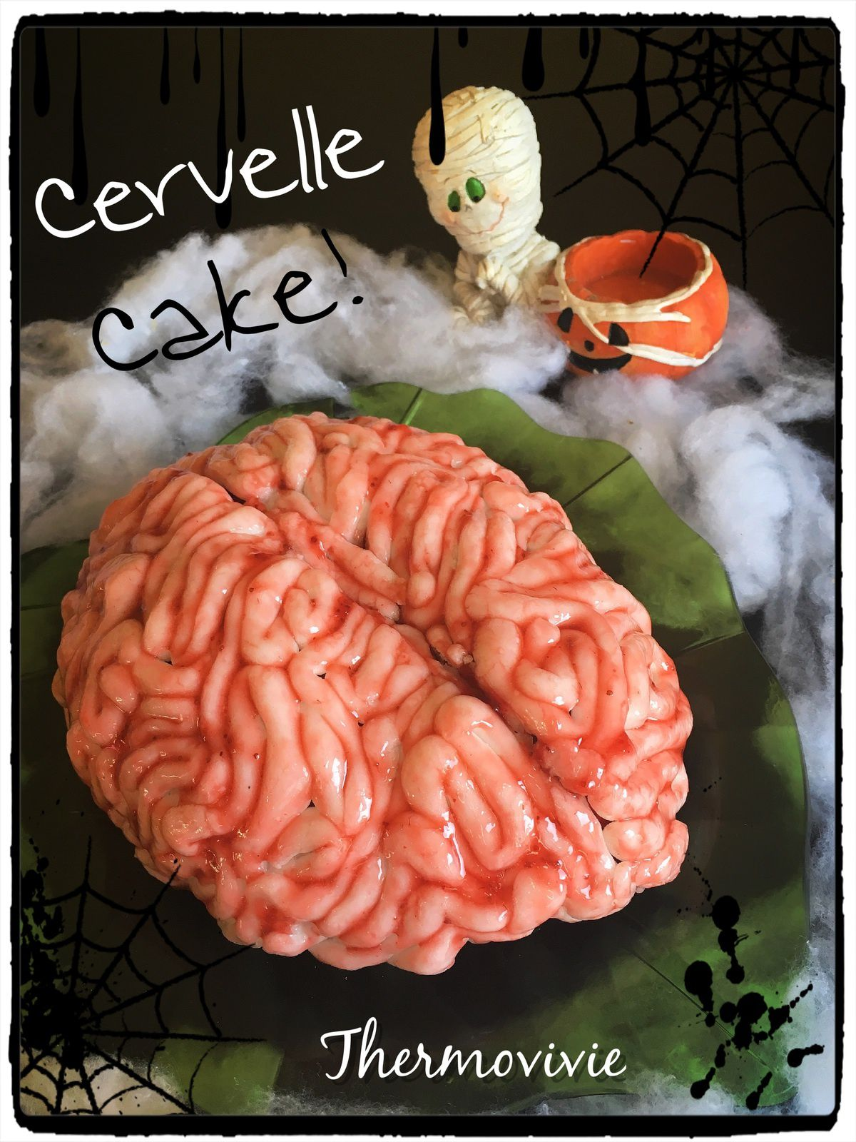 cervelle cake le cerveau sucr d vorer pour halloween thermovivie. Black Bedroom Furniture Sets. Home Design Ideas