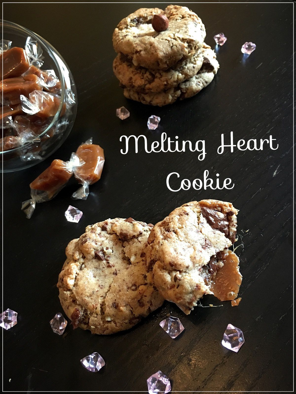 Melting heart cookies