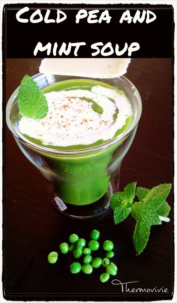 Cold pea and mint soup