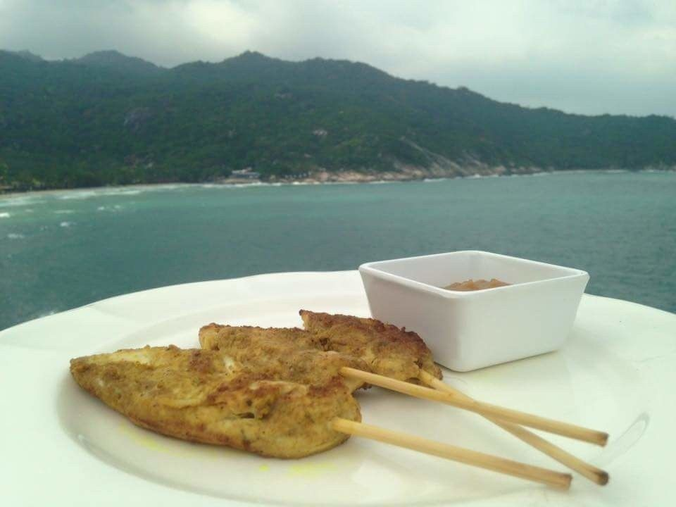 Chicken Satay, Thai recipe.