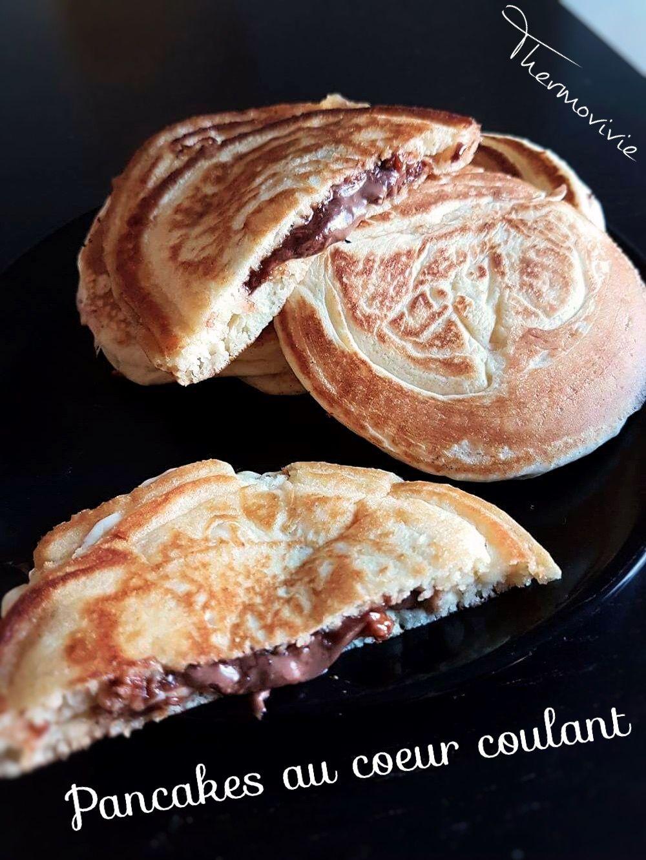 Pancakes au cœur coulant, recette au thermomix