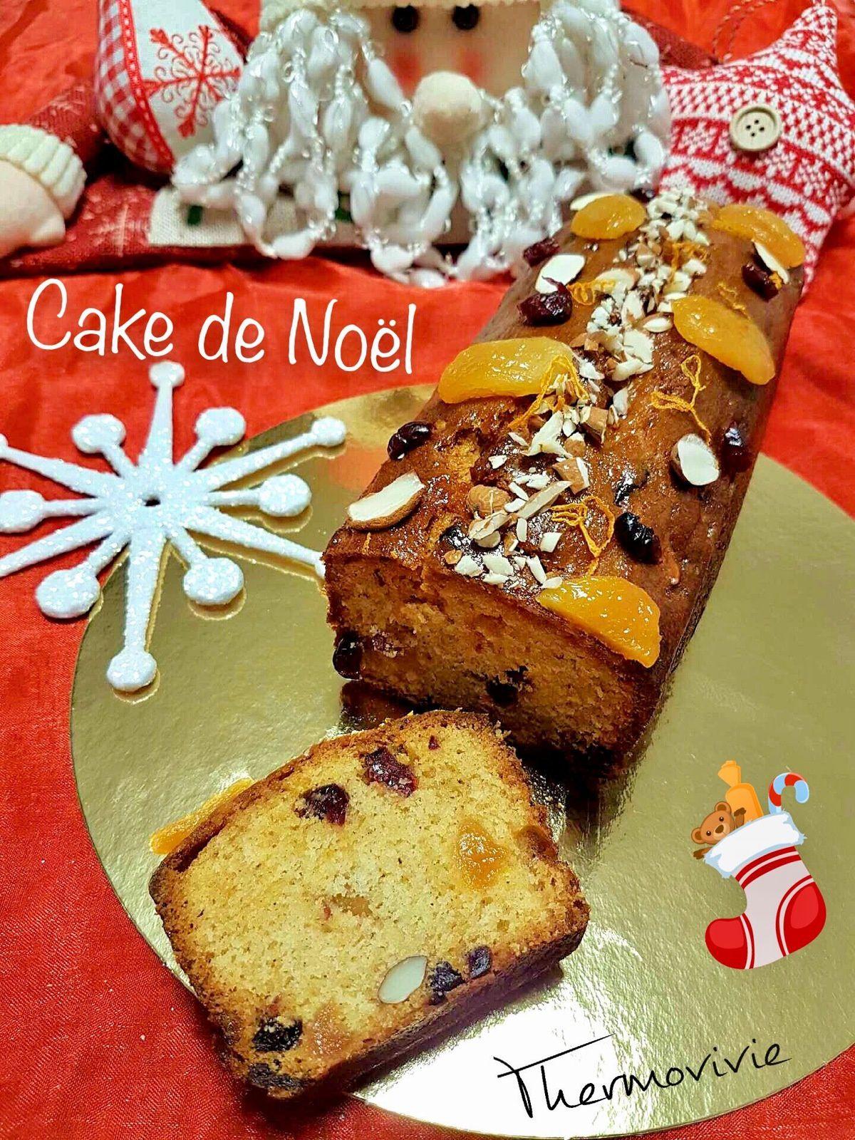 Cake de Noël, recette au thermomix