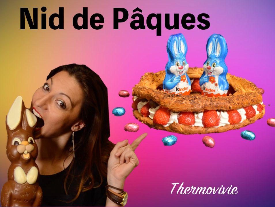 Nid de Pâques, le Paris Brest revisité avec des fraises à la chantilly
