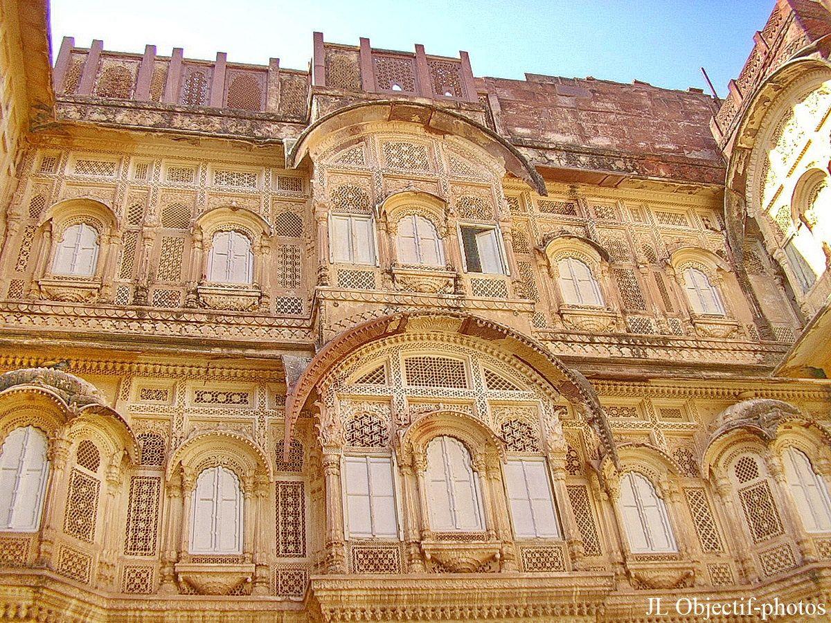 Fort Mehrangarh. détails d'architecture . Jodhpur, Rajasthan Inde