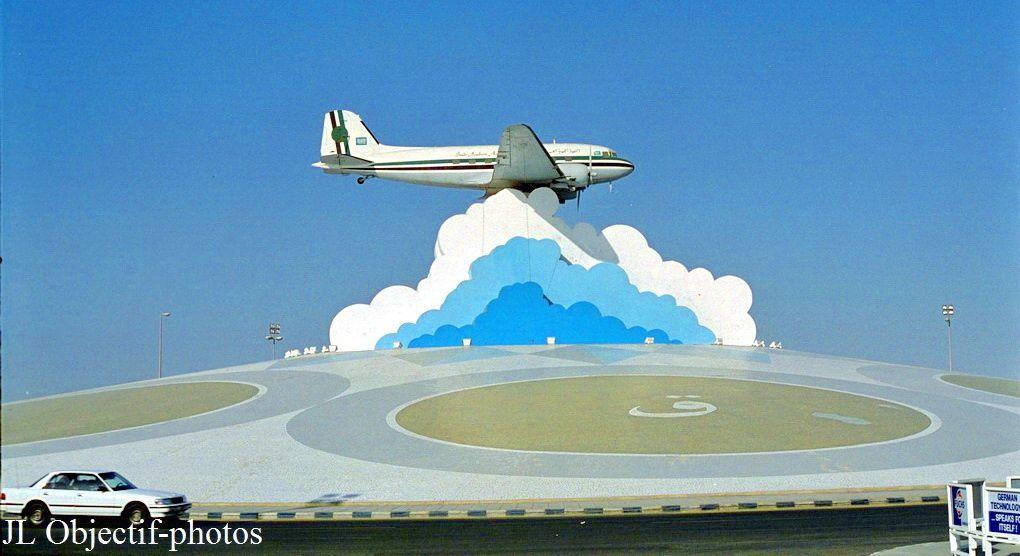 Rond-point l'avion Jeddah, Arabie Saoudite, Roundabout The Plane , Jeddah Saudi Arabia