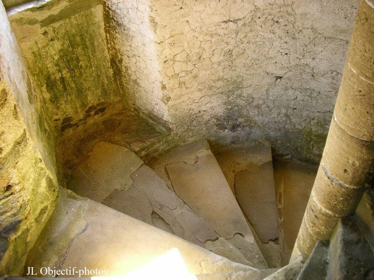 Château de Gratot, l'intérieur de la tour ronde, Gratot - Manche - Basse-Normandie