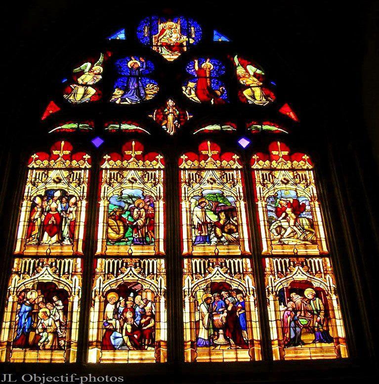 Vitraux cathédrale Notre-Dame de Bayeux, Calvados - Basse-Normandie