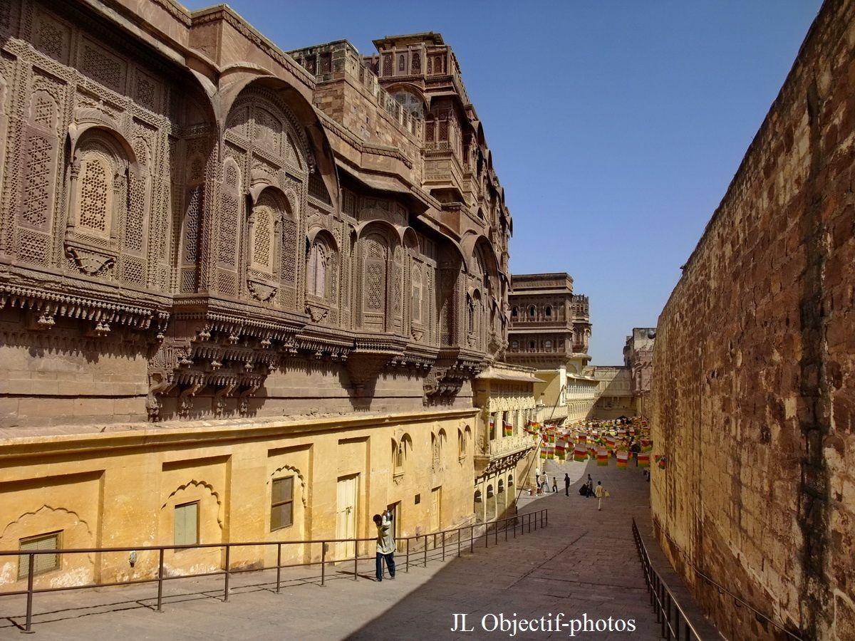 Fort Mehrangarh, vers la sortie, Jodhpur Rajasthan Inde, Mehrangarh Fort, towards the exit, Jodhpur Rajasthan India