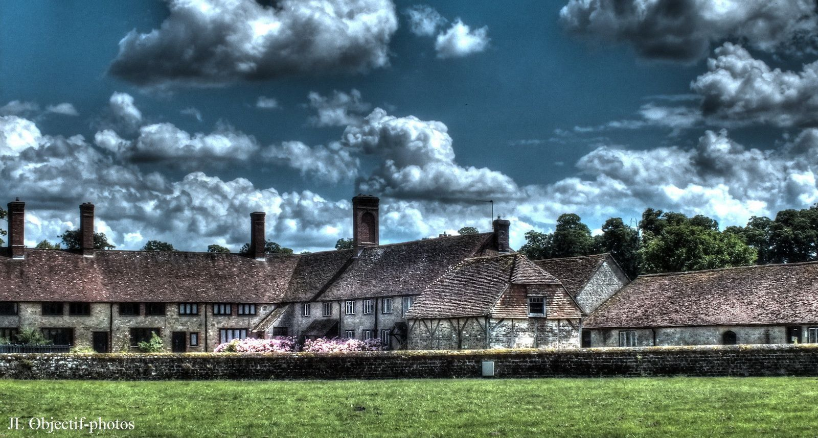 Cowdray Castle village at Midhurst, West-Sussex, England,