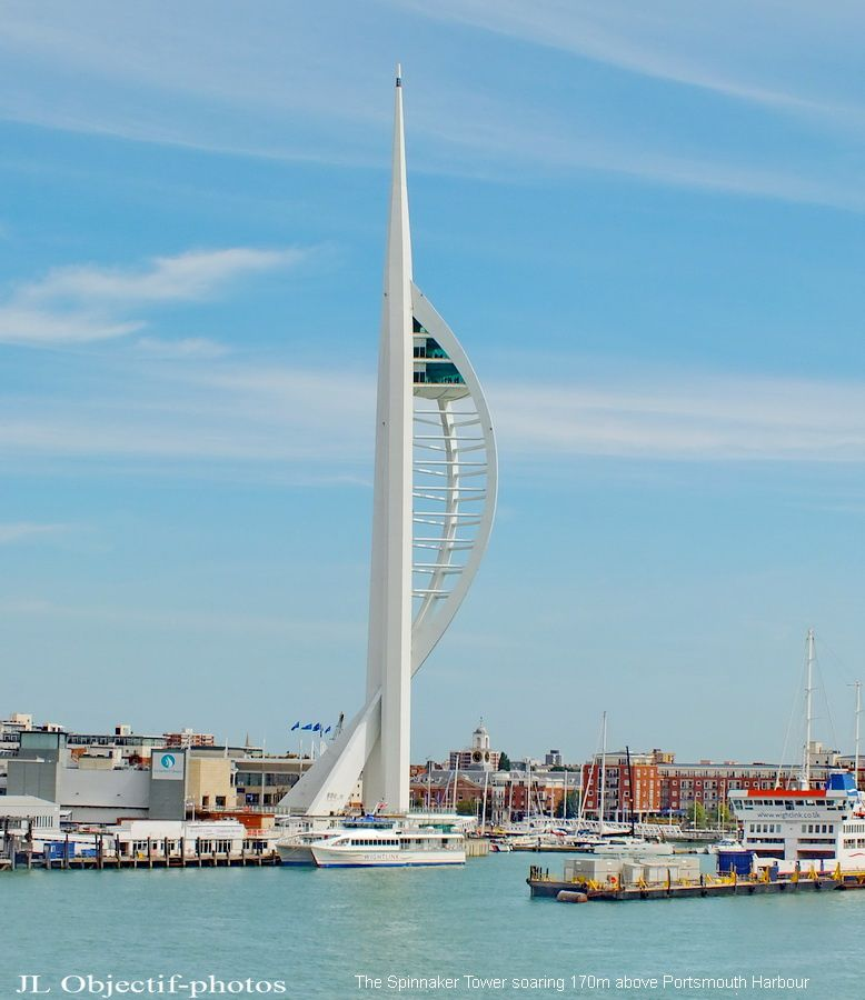 The Spinnaker Tower soaring 170m above Portsmouth Harbour - England