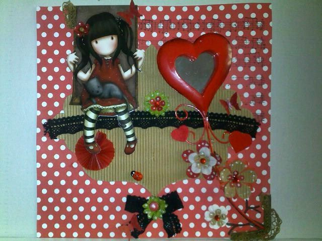 carte saint valentin scrap photo goryuss