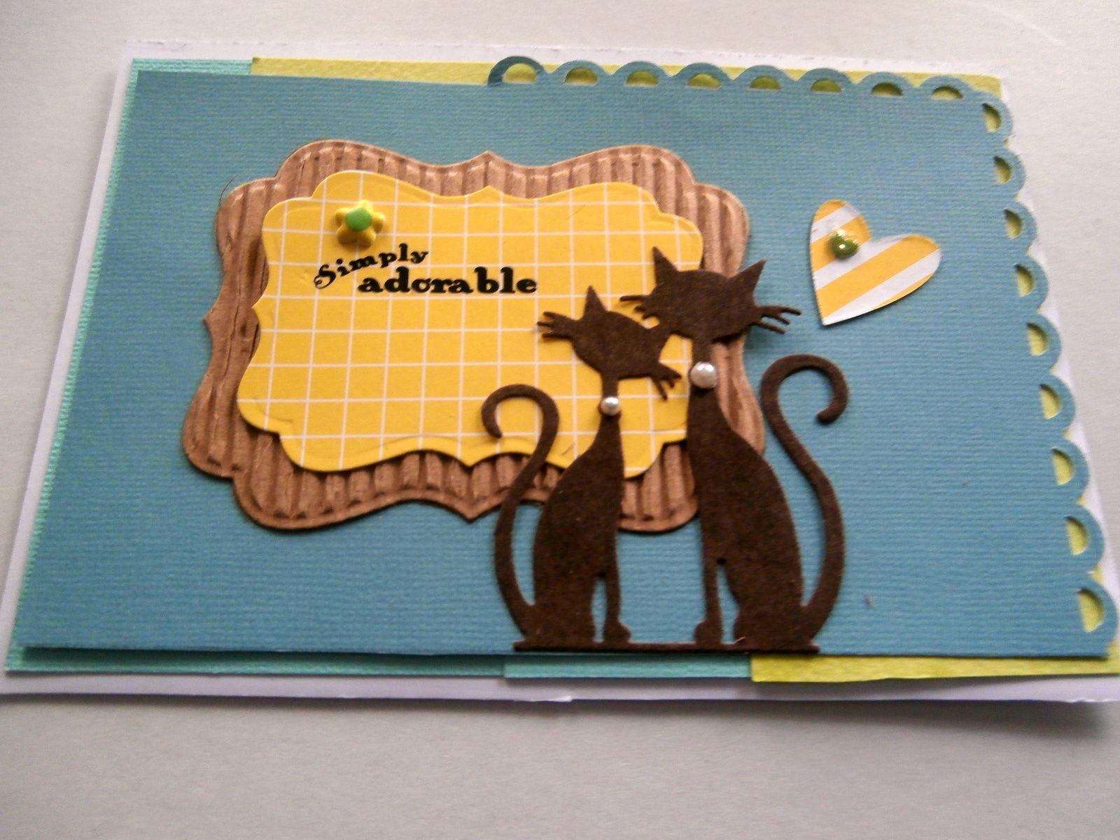 A enfin je peu a nouveau publier merci!! overblog :) voici ma cartounette avec mes petit chat que j'adore il sont trop mignon &#x3B;) Bonne journée à toutes et à tous!