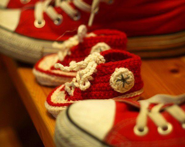 Chaussons baskets bébé