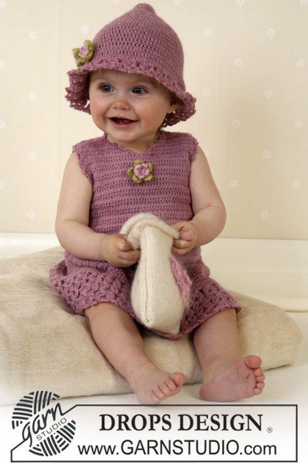 b558387f09ffa Robe fille de 1 à 4 ans - Modèles pour Bébé au Crochet
