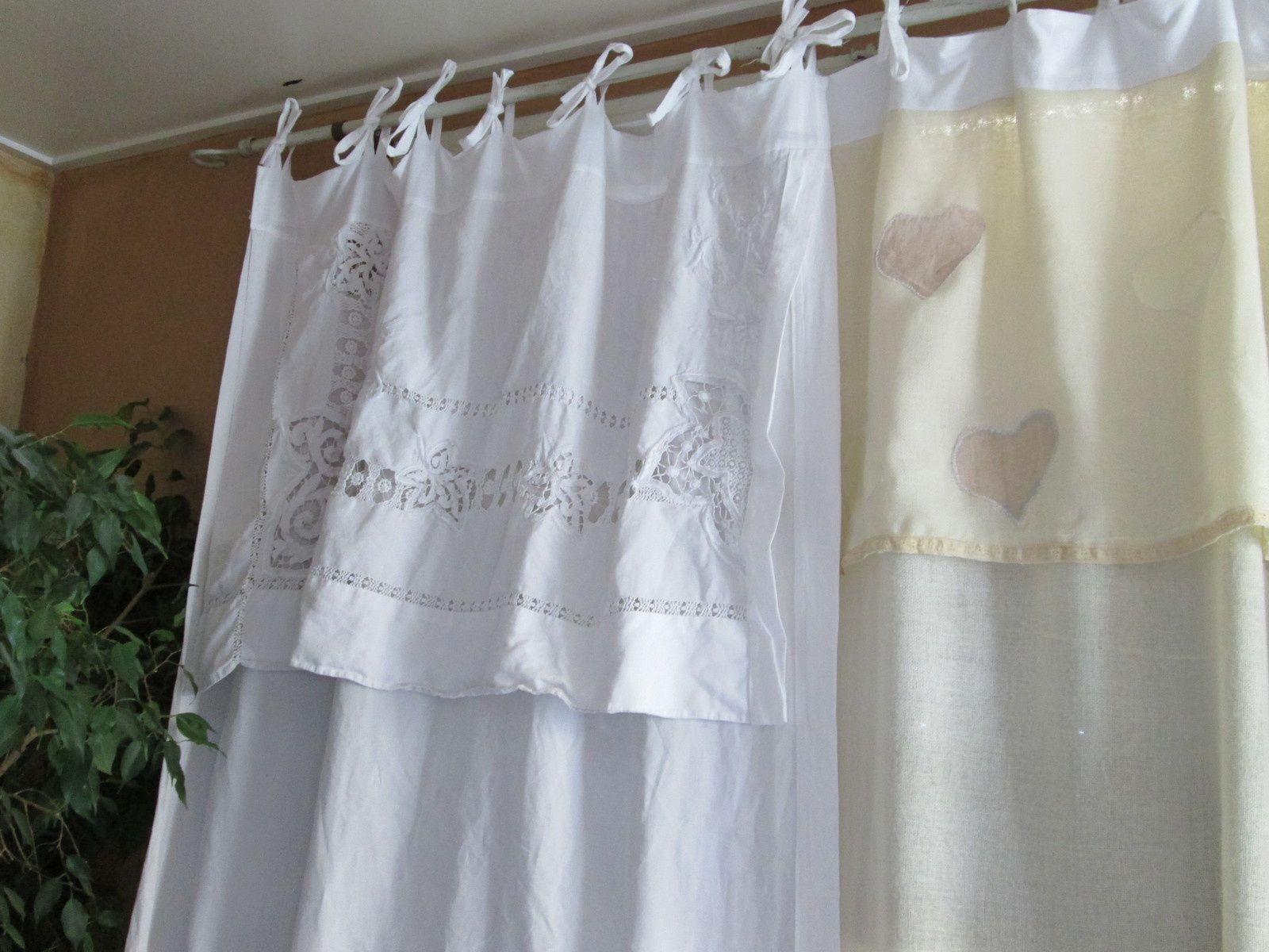 La couture et la customisation de nos v tements les - Faire des rideaux avec draps anciens ...